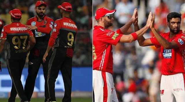IPL 2018 RCB vs KXIP match Live