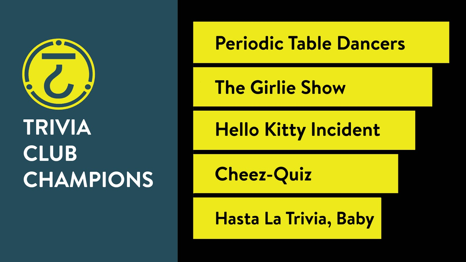 At the rec room periodic table dancers june 26th 2018 trivia club well see you all again next tuesday for another edition of trivia club at the rec room on july 3rd urtaz Gallery