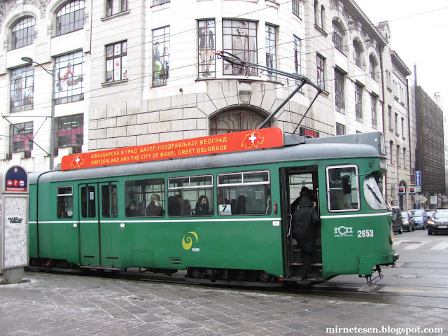 Сербия на практике: зелёный трамвай - подарок Швейцарии в послевоенное время