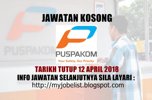 Jawatan Kosong Terkini di PUSPAKOM Sdn Bhd April 2018