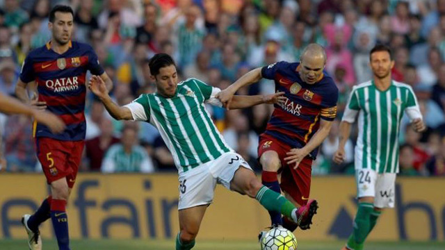 [Video] Cuplikan Gol Real Betis 0-2 Barcelona (Liga Spanyol)