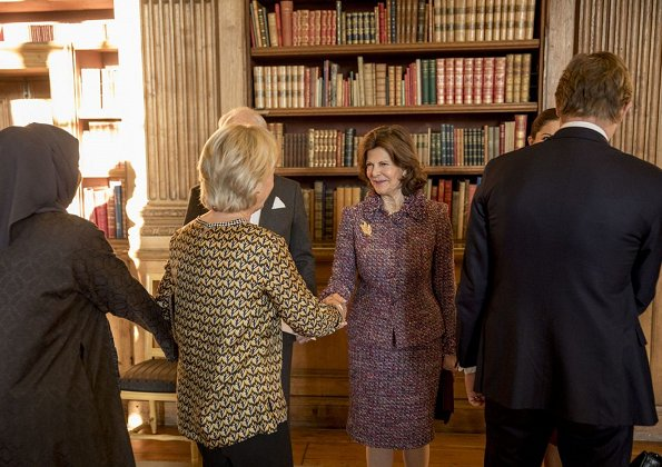Queen Silvia, Princess Sofya attended Global Child Forum. Princess Victoria wore By Malene Birger Acarmar Dress