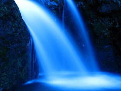 waterfall, blue, water, magic, fantasy, rebellicca