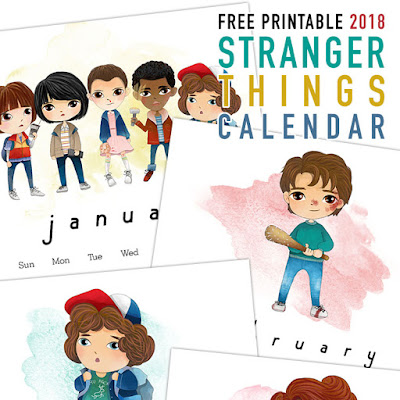 Stranger Things 2018 Calendar