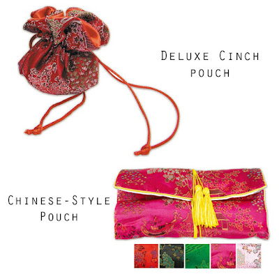 Chinese Style Pouch and Deluxe Cinch Pouch from Nile Corp
