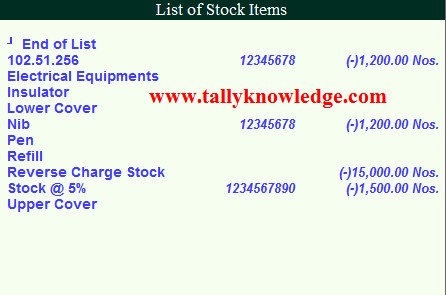 Stock Item Deactivate TDL for TallyERP 9 - Tally Knowledge