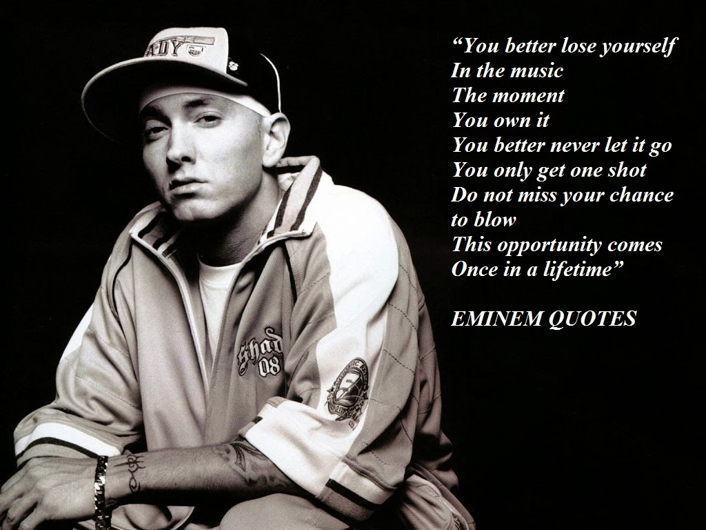 Eminem Quotes | Eminem Sayings Quotes Life Love Inspiring ...