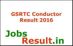 GSRTC Conductor Result 2016