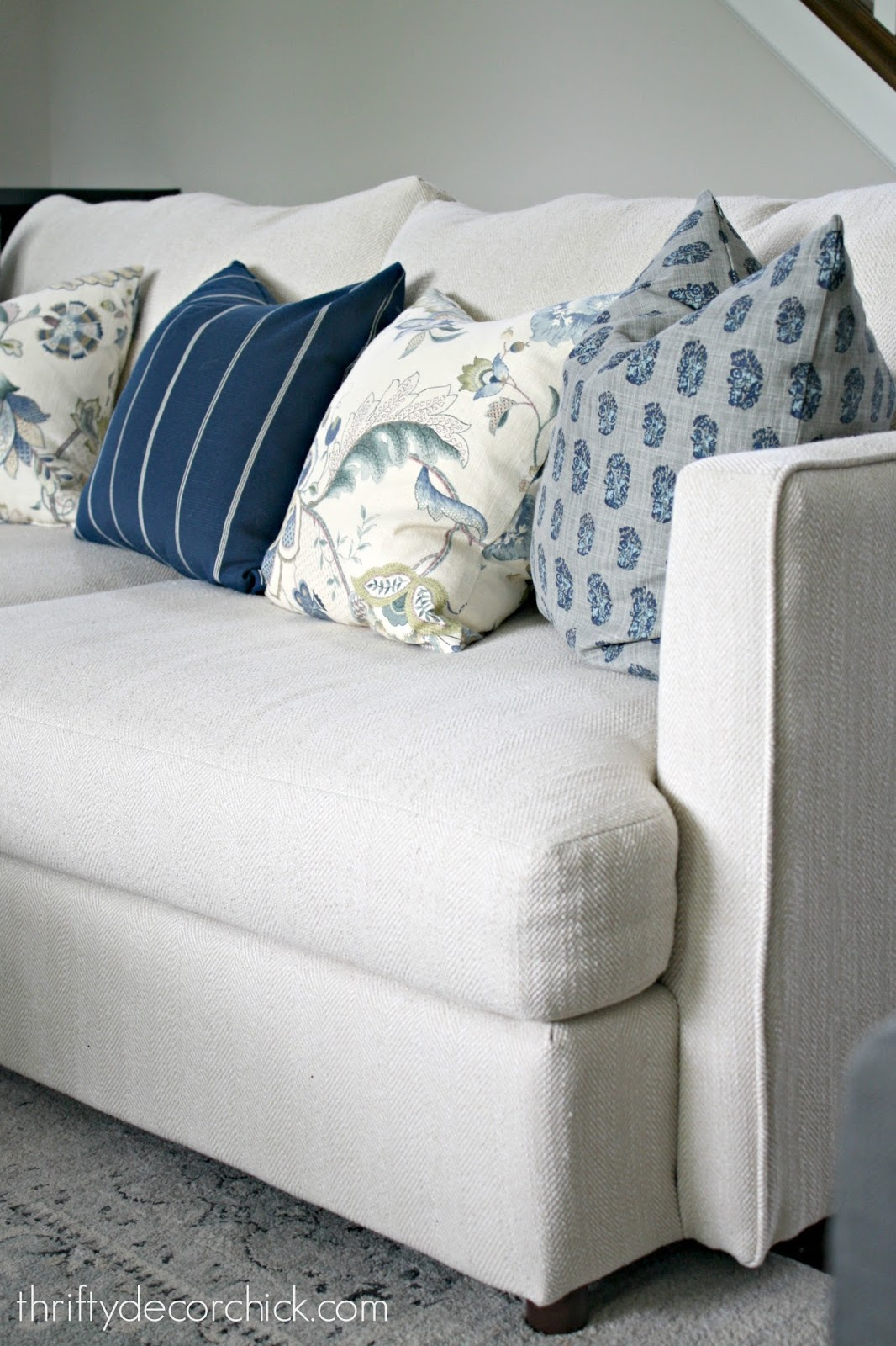 Simple trick to keep couch cushions from sliding
