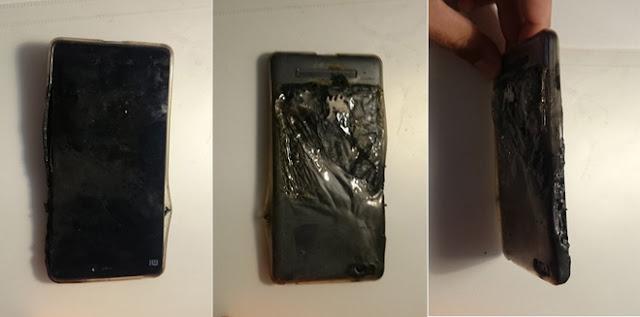 Điện thoại Xiaomi Mi4C bốc cháy dự dội dù đang trong tình trạng bình thường
