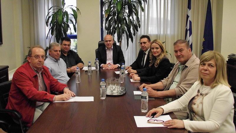 Συνάντηση του Περιφερειάρχη ΑΜ-Θ με τους Προέδρους των Συνδέσμων Βιομηχανιών και Βιοτεχνιών της Περιφέρειας