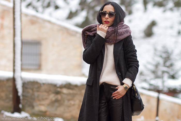 Blogger de moda belleza estilo de Valencia viaje a la nieve a Teruel