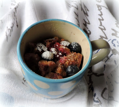 Berry French Toast in a Mug (Diabetic Friendly)