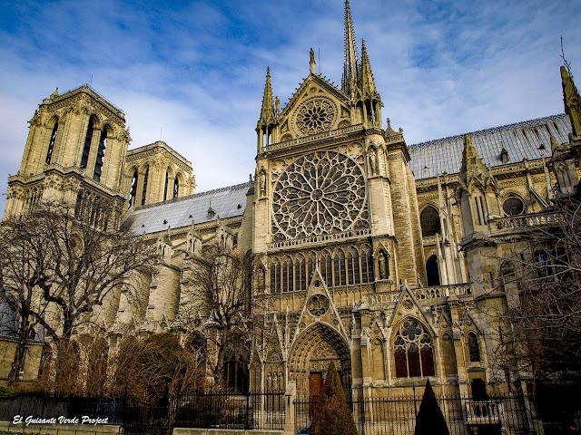 Fachada Sur Catedral de Notre Dame, París por El Guisante Verde Project