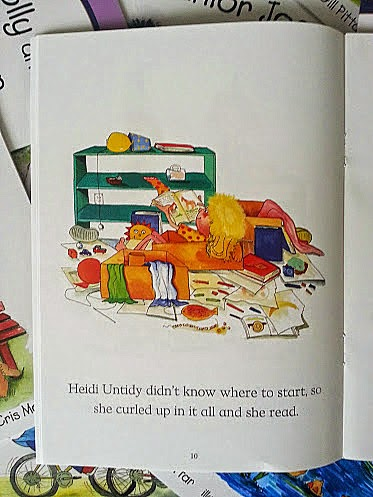 Milly, Molly and Heidi Untidy inside page key stage one book