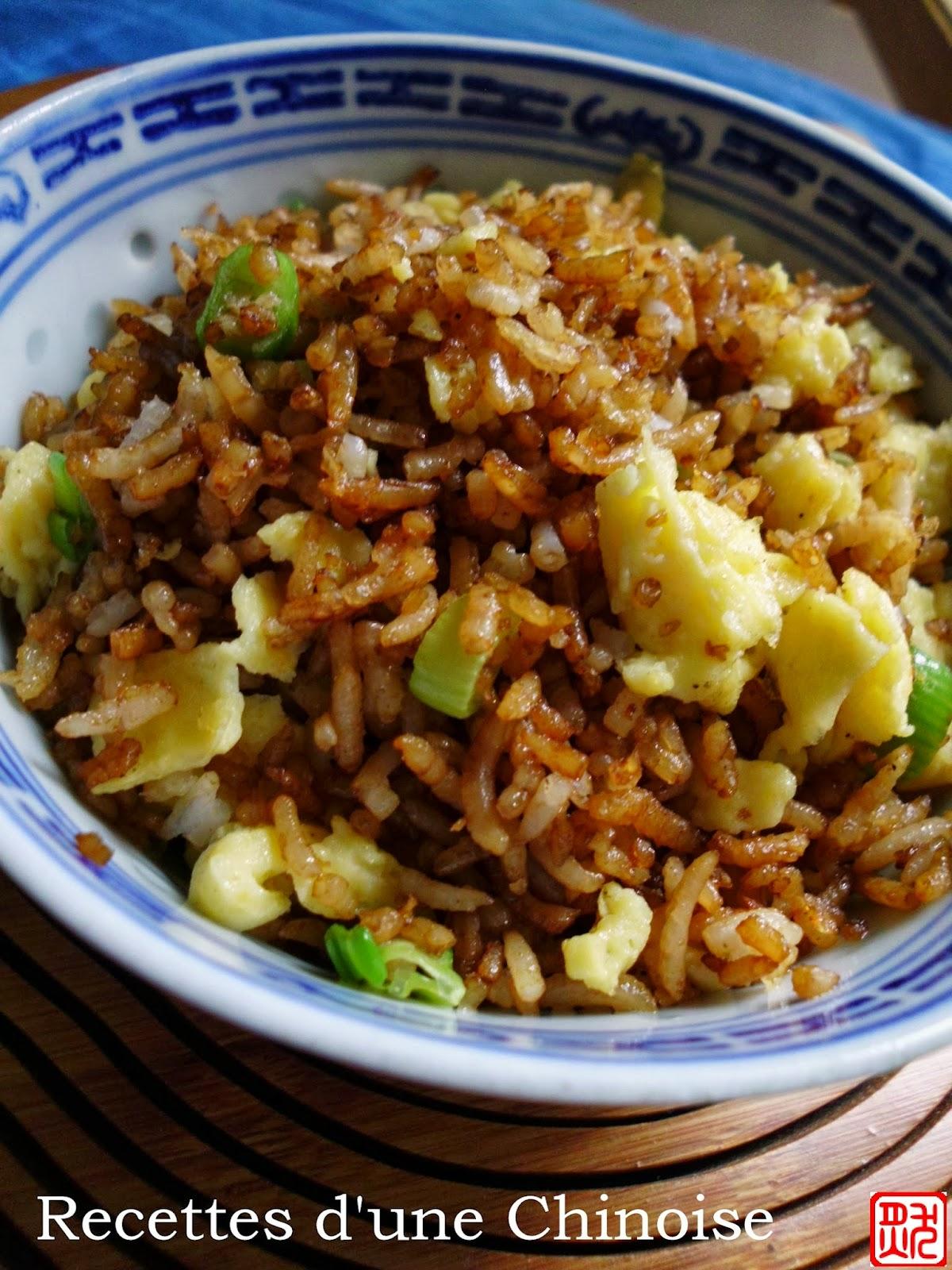 recettes d 39 une chinoise que faire avec un reste de riz riz saut la sauce de soja. Black Bedroom Furniture Sets. Home Design Ideas