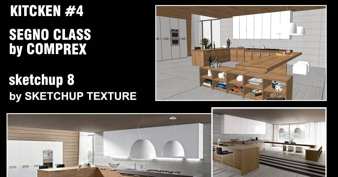 Sketchup Texture Free Sketchup 3d Model Kitchen Design