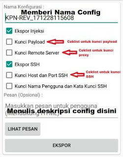 Cara Export Config KPN Tunnel Rev