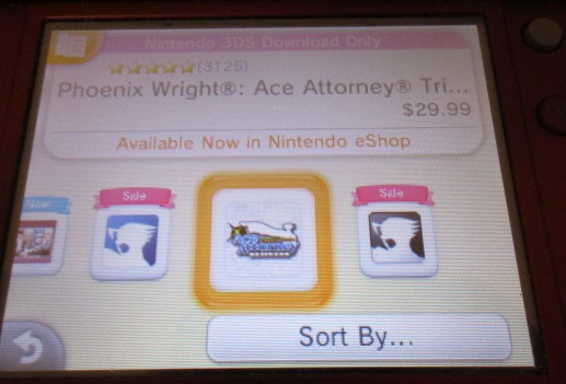 Nintendo eShop Cyber Deals Week 2017 Phoenix Wright Ace Attorney series sales