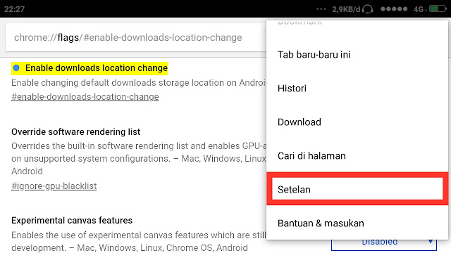 Cara Mengubah Lokasi Download Chrome Android