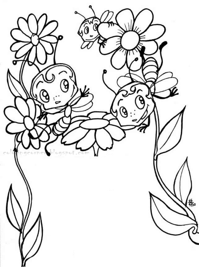 coloring pages of a | Bees Coloring Pages