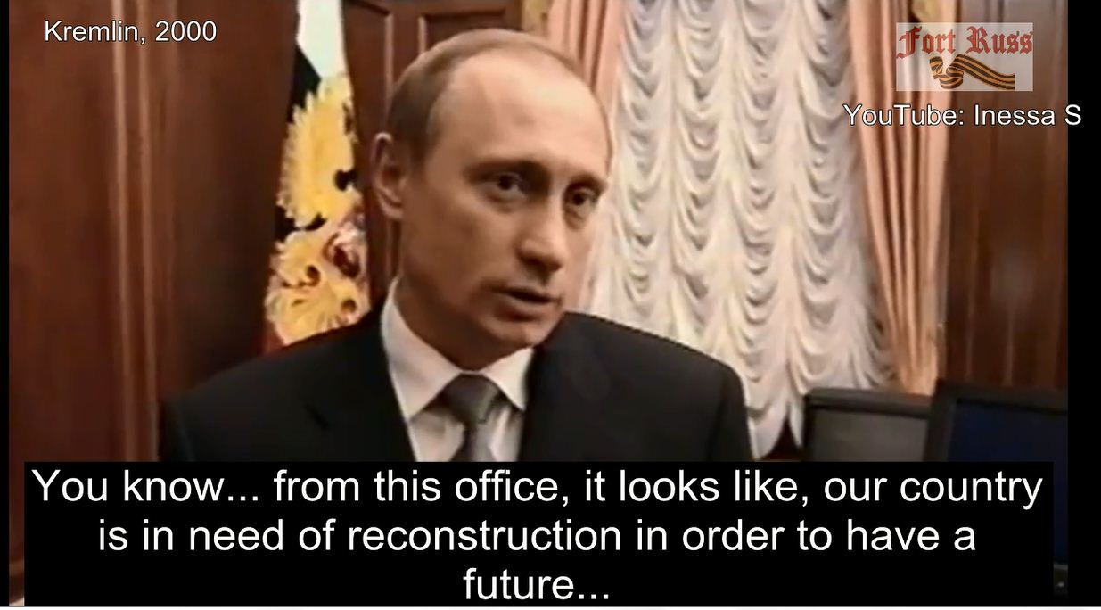 hevknew what to do putin s first interview video on new year s eve 1999 putin succeeded the russian presidency from boris yeltsin this is his first interview inside the kremlin