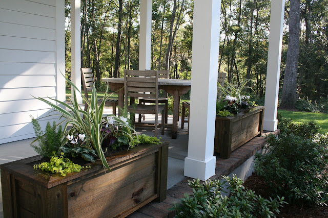 Fall Winter Charleston Porch Window Boxes | The Lowcountry Lady
