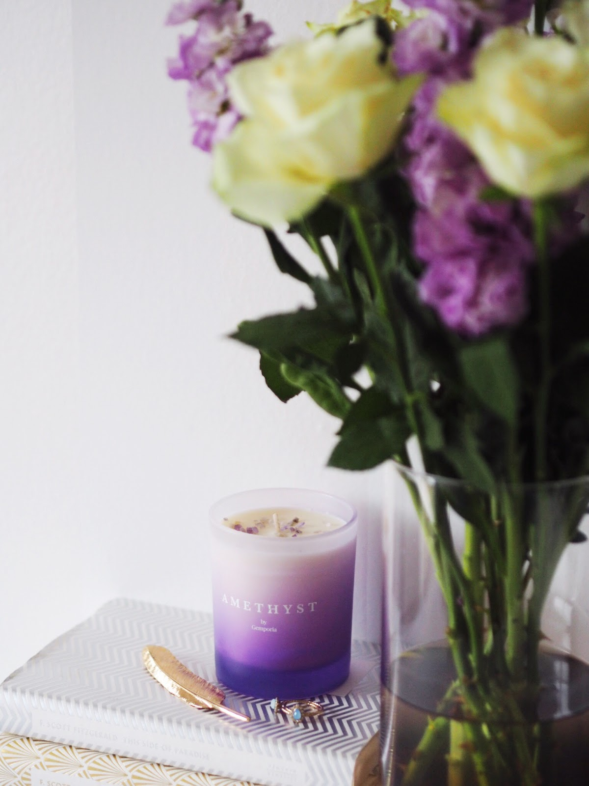 Gemporia Candle and Roses with Stocks Five Positive Things