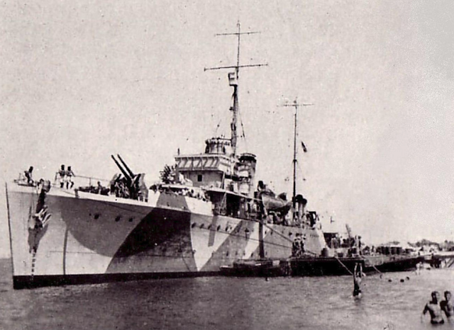 HMAS Parramatta at Mersa Matruh, Egypt 19 June 1941 worldwartwo.filminspector.com
