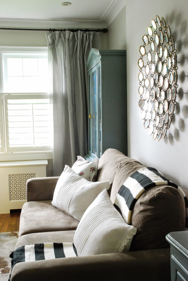 Feather Sofa Cushions Wine Colored A Quick&easy Makeover Of Tired Brown - Rambling ...