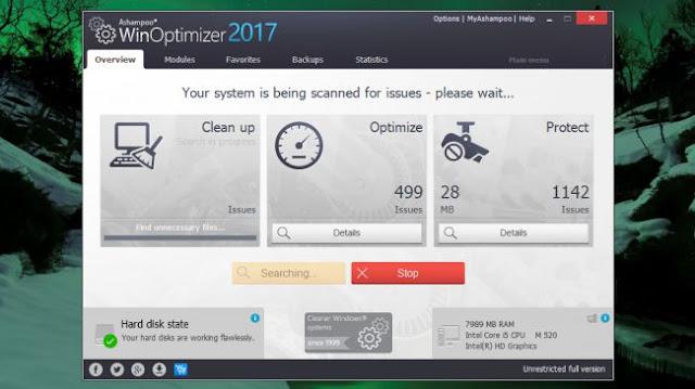 برنامج Ashampoo WinOptimizer لتسريع الجهاز