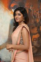 Eesha Rebba in beautiful peach saree at Darshakudu pre release ~  Exclusive Celebrities Galleries 034.JPG