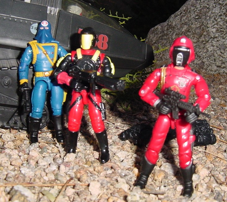 1993 Crimson Guard Commander, Battle Corps, 2004 Comic Pack Cobra Commander, 2005 Crimson Guard, 1983 Hiss Tank