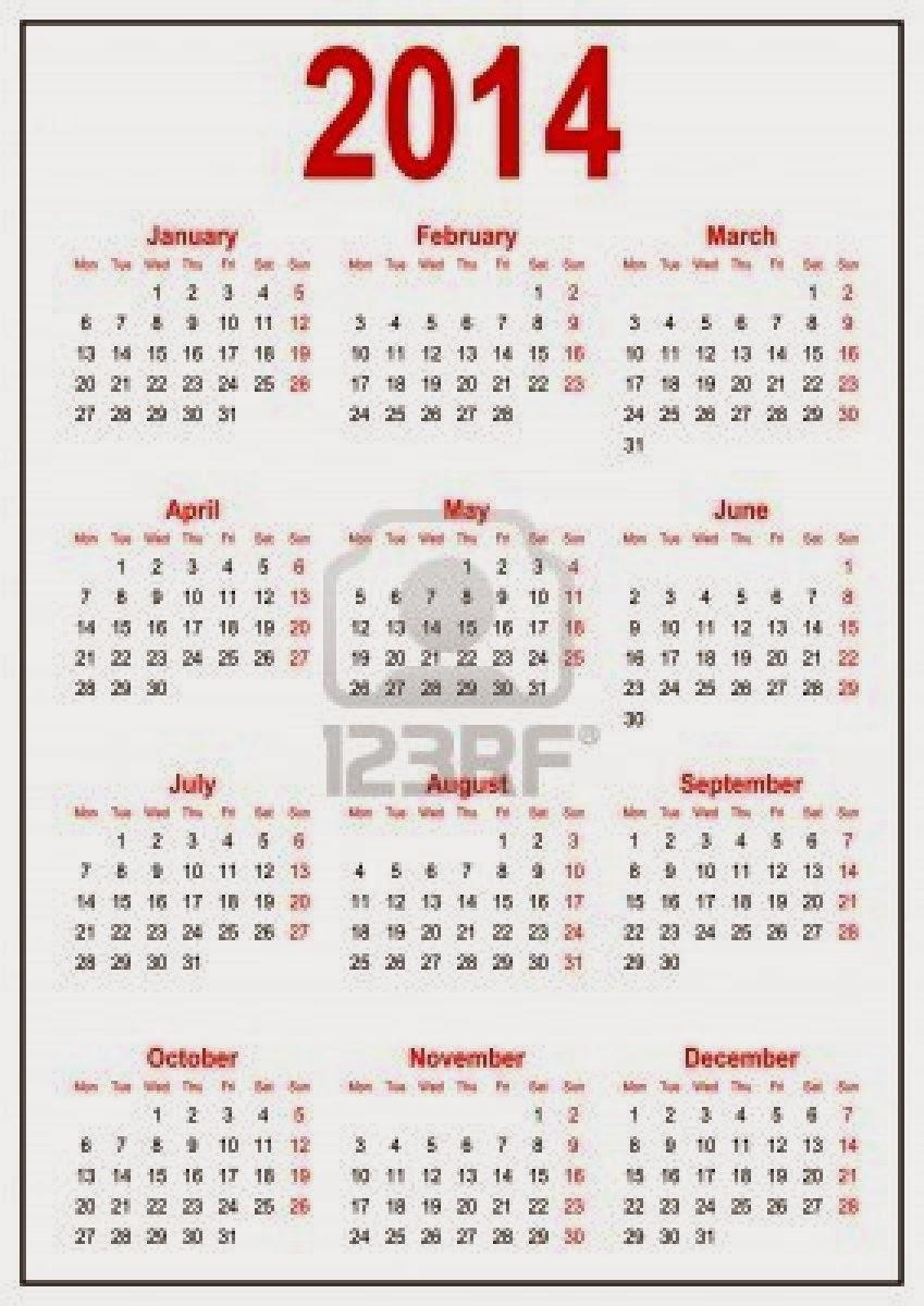 calendrier 2014 à imprimer | calendars 2018 kalendar 2018 ...