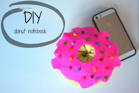 dryclaudia: diy-donut notebook