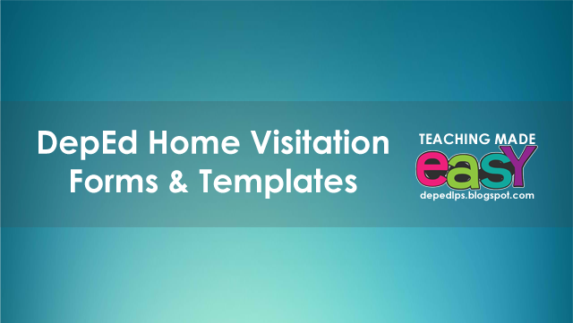 Home Visitation Forms Templates Deped Lp S