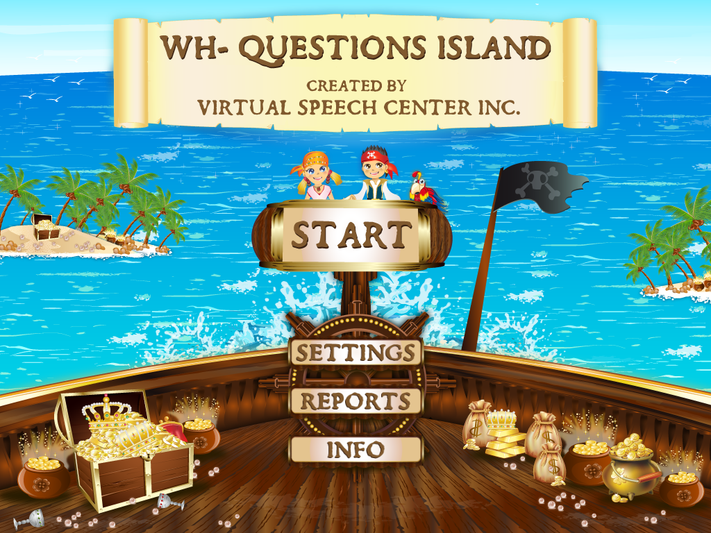 Speech Time Fun: WH-Questions Island App Review!