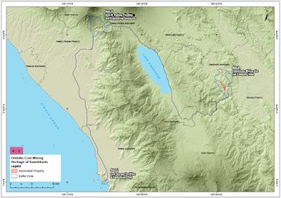 Peta Wisata Tambang Batubara Ombilin Sawah lunto