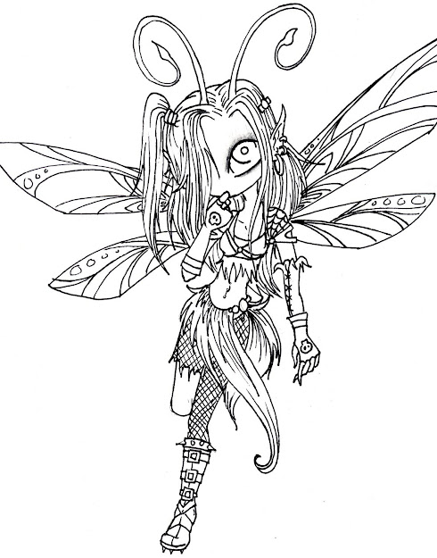 Dark Fairy Coloring Pages Dark Fairy Lines For Luna By Melissadalton On