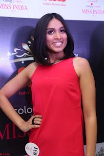 Spatika Surapaneni in Red Tight Dress at FBB Miss India 2017 finalists at Telangana auditions Feb 2017 (18).JPG