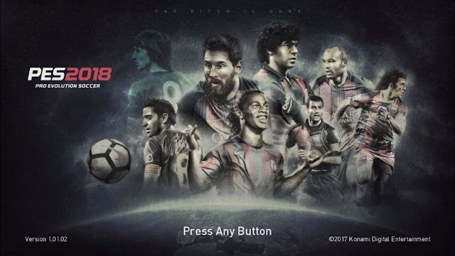 Start Screen Barcelona PES 2018