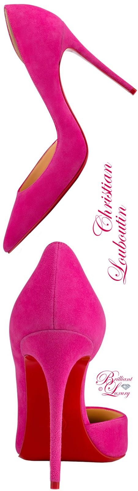Brilliant Luxury ♦ Christian Louboutin Iriza Suede Pump
