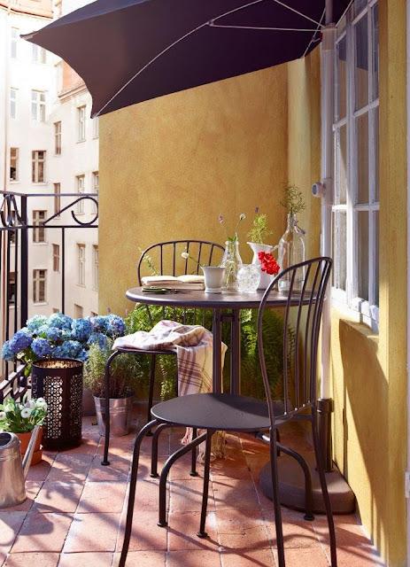Cómo decorar balcones pequeños-15