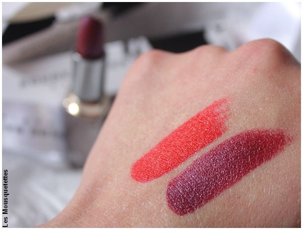 Rouge L'Authentique Rouge Baiser - Swatches lipsticks - Monoprix - Blog beauté