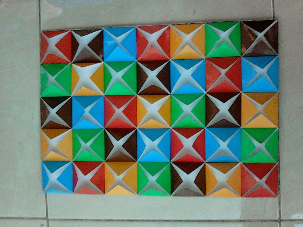 hobby dan kreasi Hiasan Dinding dari Kertas Origami