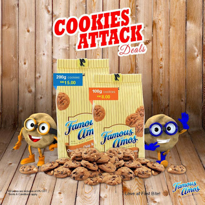 Famous Amos Malaysia Cookies Attack Deals