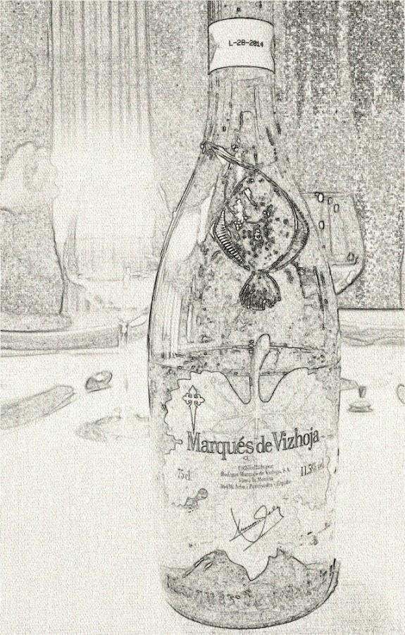 foto de botella de marques de vizhoja