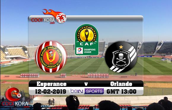 مشاهدة مباراة الترجي وأورلاندو بيراتس اليوم 12-1-2019 دوري أبطال أفريقيا