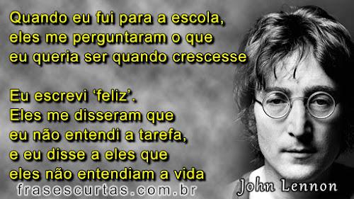 Ser Feliz - Frases de John Lennon