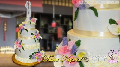 tarta personalizada desnuda naked cake boda limón nupcial long laia's cupcakes puerto sagunto